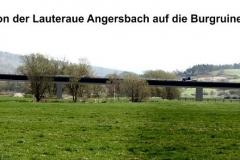 Brücke aus Blickrichtung Lauteraue