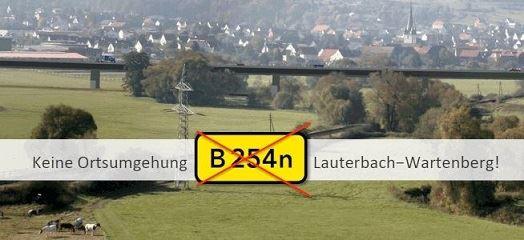 Wartebach, Angersbach, Wartenberg, B254, B 254, Ortsumgehung, Ortsumgehung B254, Umgehungsstraße, Bürgerinitiative Pro Lebensraum Wartenberg